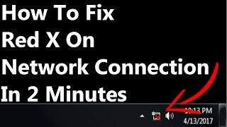 [FIXED] Red X Over Network Connection Windows 7