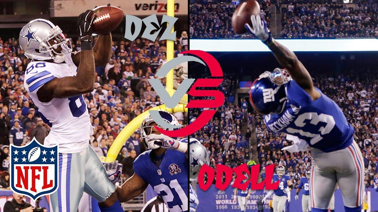 Odell Beckham Jr Vs Dez Bryant Cowboys Vs Giants Wk 12 2014 Highlights Nfl