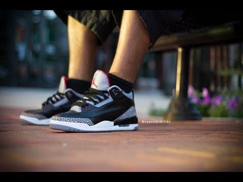 0c770f62faf66 90 Seconds or Less  Air Jordan 3 Black Cement - YouTube