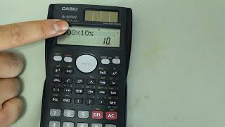 Percentages on Casio Scientific Calculator screenshot 4