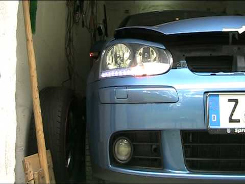 vw golf 5 tdi tagfahrlicht prototyp eigenbau youtube. Black Bedroom Furniture Sets. Home Design Ideas