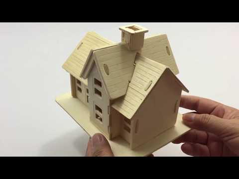 RollingBronze Water Wheel Woodcraft Construction Kit Watermill Cabin 3D Wooden Model Puzzle for Kids