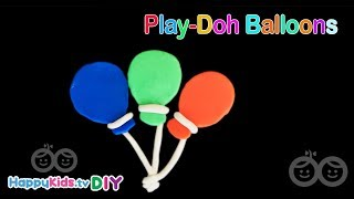 Play Doh Balloons | Kid's Crafts and Activities | Happykids DIY