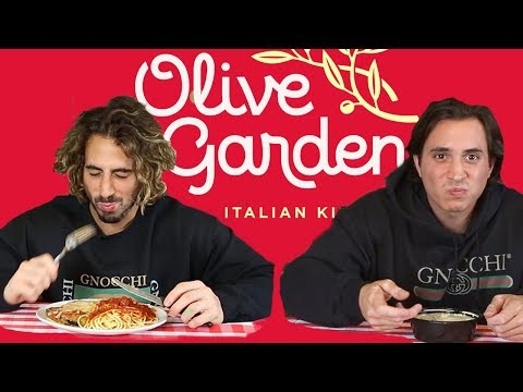 Italian Guys try Olive Garden for the first time