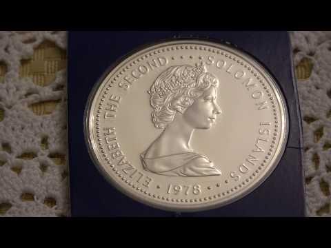 Solomon Islands 1978 5 Dollars - Silver
