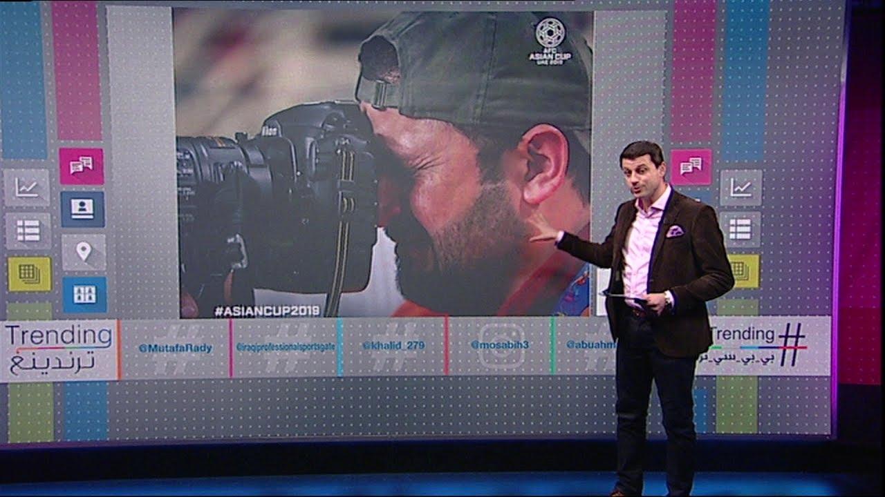 صورة بكاء مصور عراقي بعد خسارة منتخب بلاده أمام قطر تصبح حديث العالم #بي_بي_سي_ترندينغ