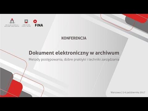 Dokument elektroniczny w archiwum - dzień I