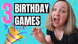 3 Birthday Party Games For Kids