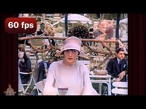 A Day in 1920's Paris | 1927 AI Enhanced Film [ 60 fps, 4k]