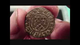 Metal Detecting UK (423) XP Deus - Robert Lund 1666 His Half Peny