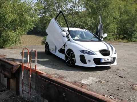 seat leon 1p tuning white scorpion youtube. Black Bedroom Furniture Sets. Home Design Ideas