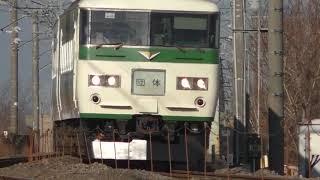 高崎線を走行する185系団体列車