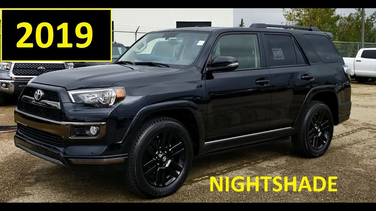 2019 Toyota 4runner Nightshade Edition In Black Review And
