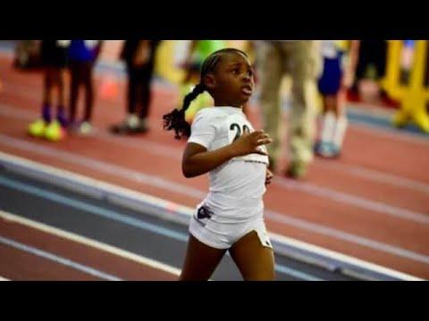 5 year old Leighla Herriott | 400m Run Meet Record