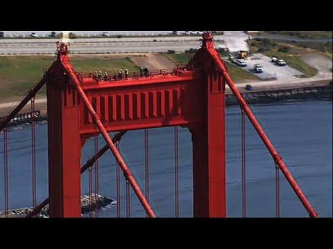 Crews Inspect Golden Gate Bridge Towers
