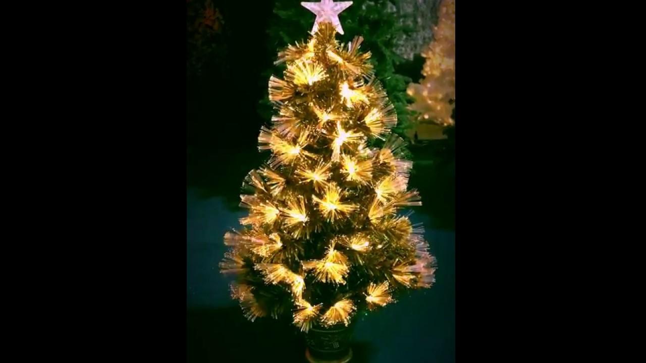 3ft Gold Flower Fibre Optic Tree