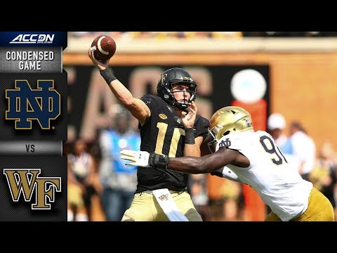 Notre Dame vs. Wake Forest Condensed Game | 2018 ACC Football