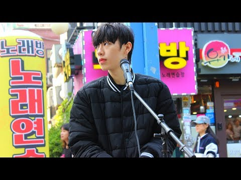 [K-POP]MOST Handsome Korean Street Performer in Hongdae홍대, Seoul - Ed Sheeran Perfect Cover♬