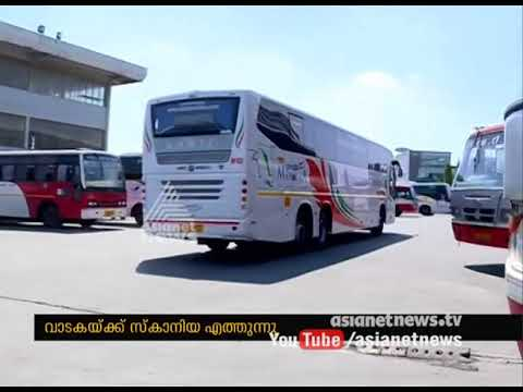 Employees union against KSRTC Scania bus  rent issue