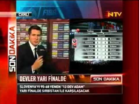 Türkiye 95 - 68 Slovenya Turkey 95 - 68 Slovenia FIBA 2010 Turkey (8 Eylül 2010)