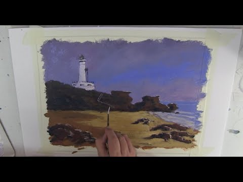 "Learn To Paint TV E25 ""Point Lonsdale Lighthouse"" Acrylic Painting Tutorial Beginners Painting"