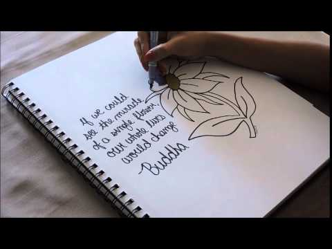 How To Draw A Flower Inspirational Quote Youtube