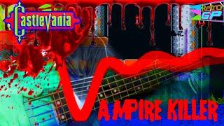 Vampire Killer BASS Guitar cover - Holy Water Remix - Retro GP