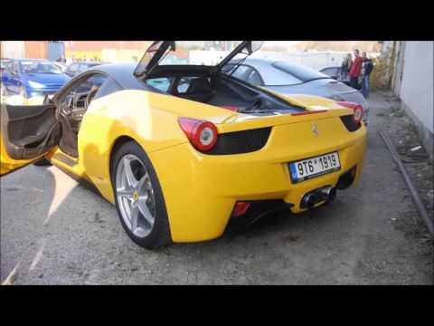 Ferrari 458 LOUD REVS w/ Armytrix Titanium Valvetronic Exhaust from Czech Republic