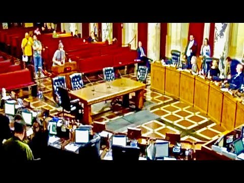 FUNNY! - Excellent Protest Against House Party Ban at L.A. City Council