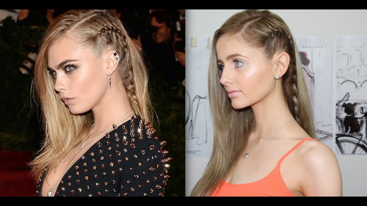 Cara Delevingne Hair Tutorial + How To Braid