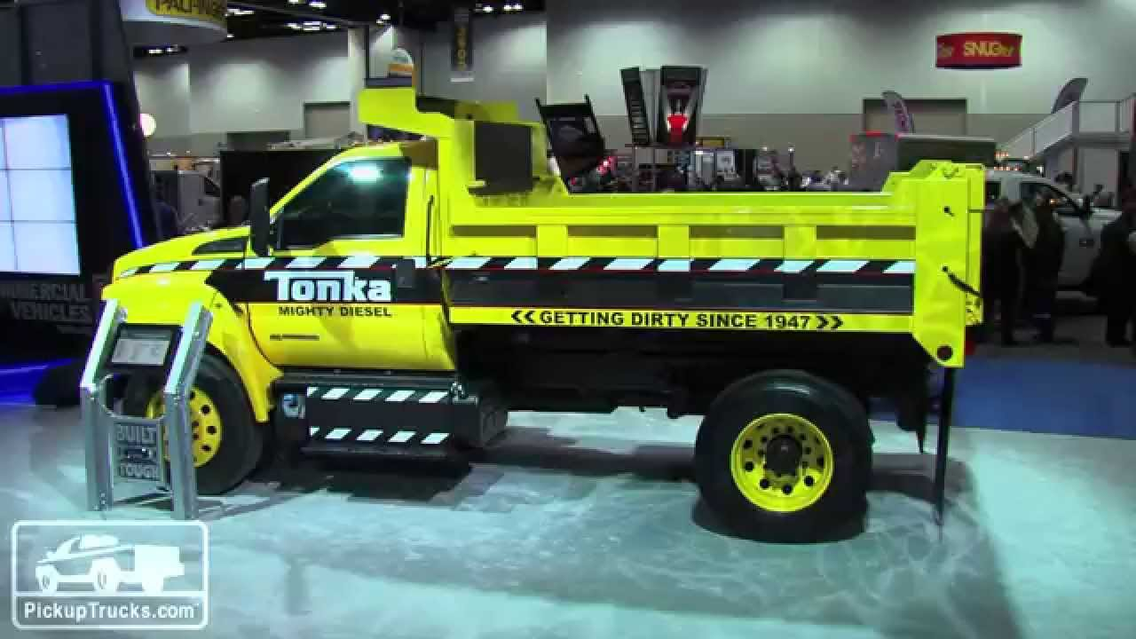 Mighty Ford F-750 Tonka Dump Truck - YouTube