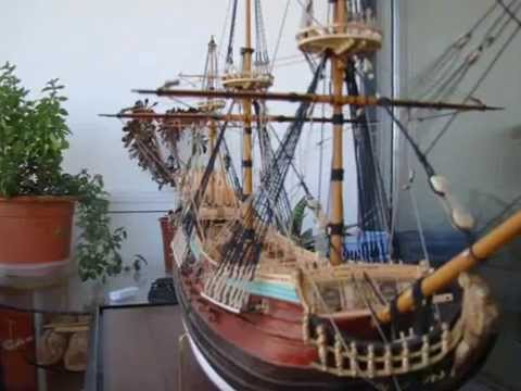 BUILD A SHIP MODEL COMPLETE LOG START TO FINISH