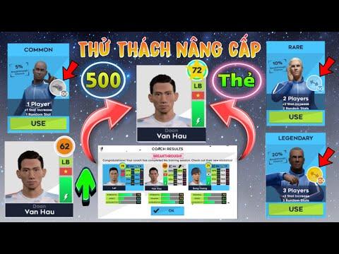 DLS 2021| Thử thách dùng 500 thẻ nâng cấp đội hình siêu hiếm trong Dream league Soccer 2021