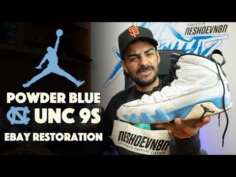 UNC Air Jordan 9 restoration by Vick Almighty!!
