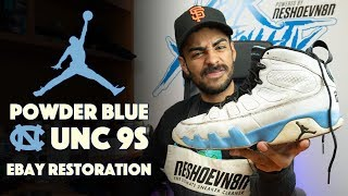 UNC Air Jordan 9 restoration by Vick Almighty!!