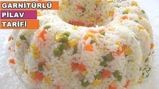 Garnitürlü Pilav Nasıl Yapılır - Pilav Tarifleri - Sebzeli Pirinç Pilavı Tarifi