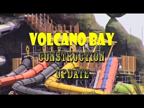 Universal Orlando Resort Volcano Bay Construction Update 4.5.17 More Testing, Landscaping Takeover