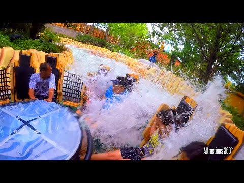 Popeye Raging Rapids Water Ride - Universal Orlando - SOAKED!