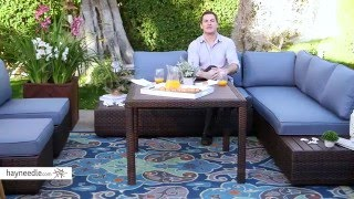 Belham Living Luciana Bay Resin Wicker Square Dining Table - Product Review Video
