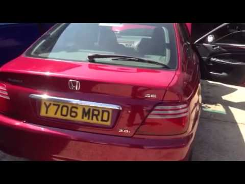 Honda Accord 1998 >> 2001 Honda accord diagnostic socket location uk 2.0 - YouTube