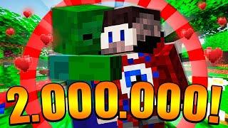 😱2 000 000 ПОДПИСЧИКОВ! Проходим Майнкрафт с ИНТЕРАКТИВОМ!