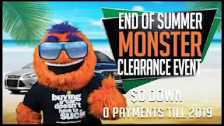 End of Summer MONSTER Clearance Event