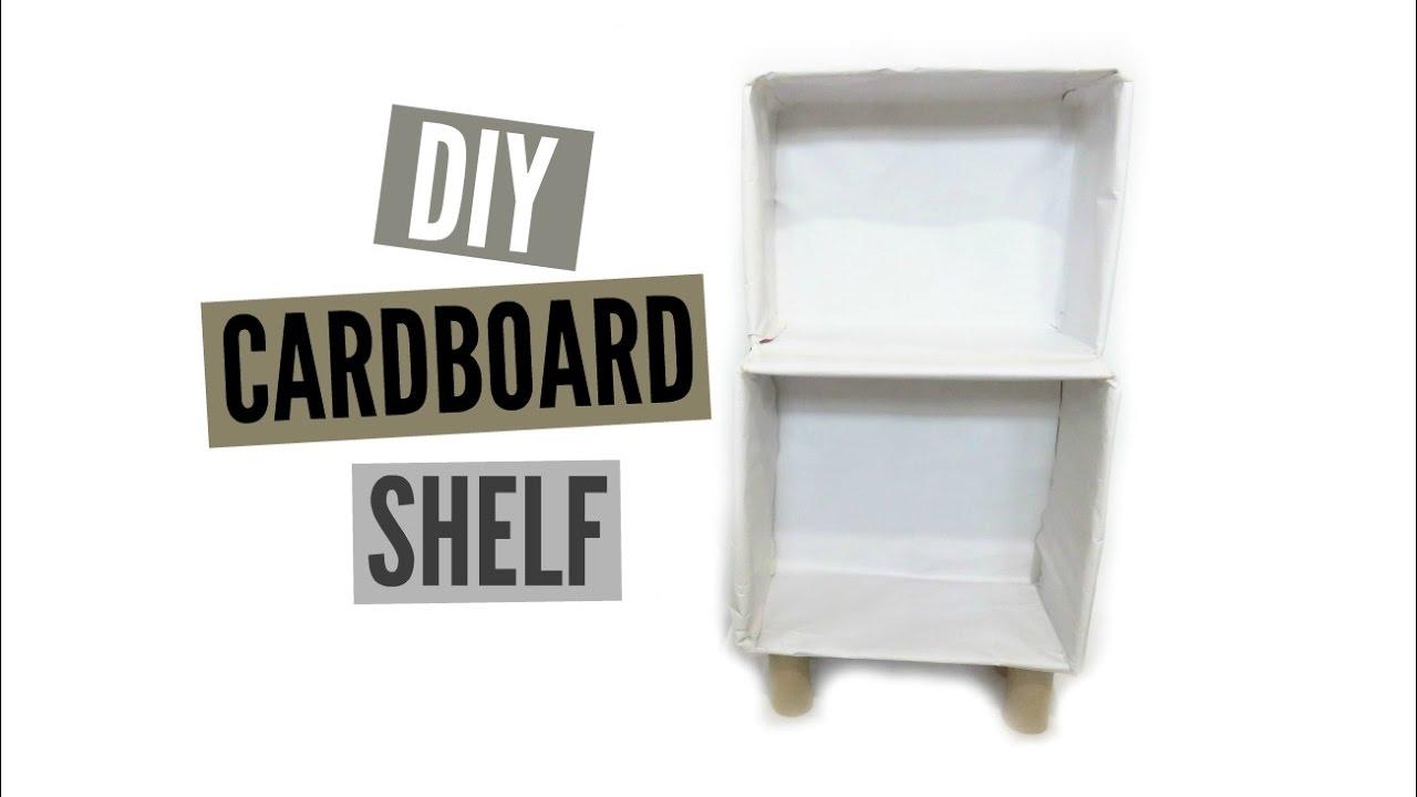 Cardboard bookcase furniture elephant cardboard for Make your own bedside table