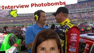 NASCAR Interview Photobombs