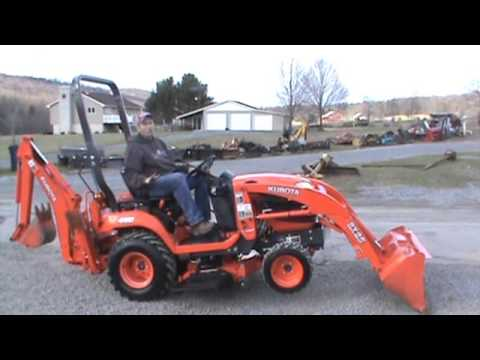 2017 Kubota Bx25 Tractor Loader Backhoe Belly Mower Tlb Compact 4x4 Pto