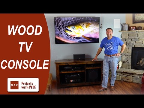 How to Make a Wood TV Console
