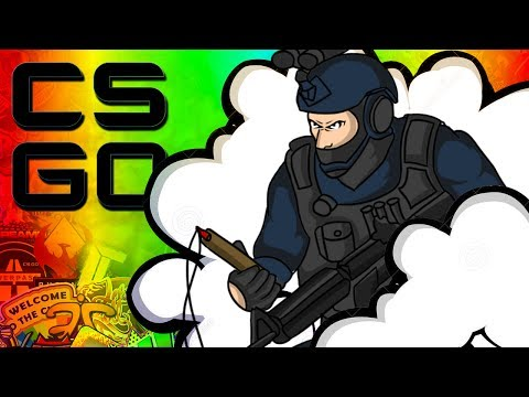 EPIC SMOKE DEFUSE!? - CSGO Funny Moments!