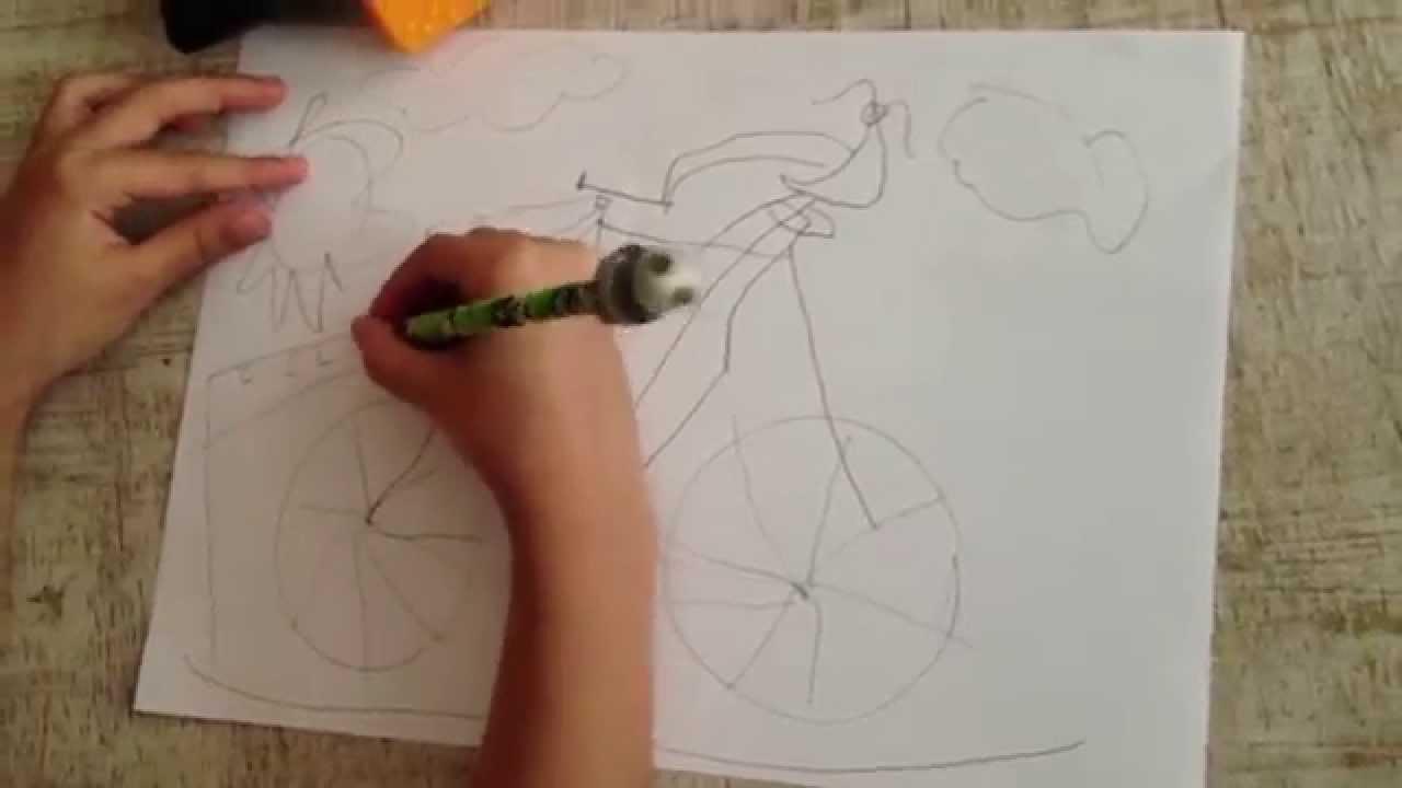 desenhando a bicicleta bike é legal youtube