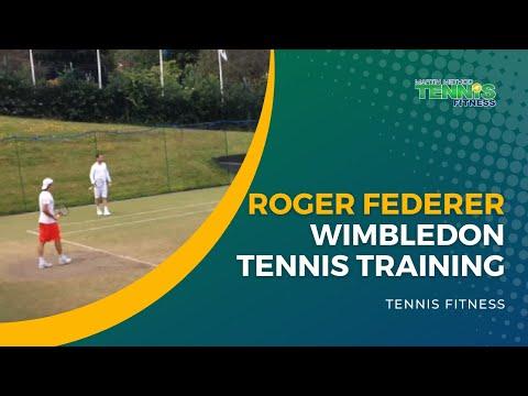 Roger Federer Wimbledon Tennis Training