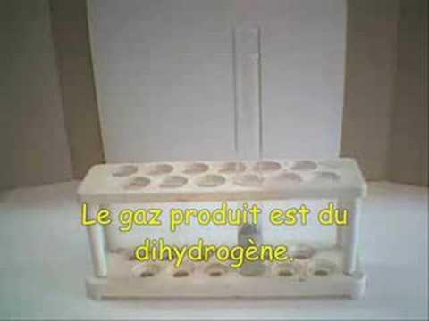 attaque du fer par l 39 acide chlorhydrique youtube. Black Bedroom Furniture Sets. Home Design Ideas